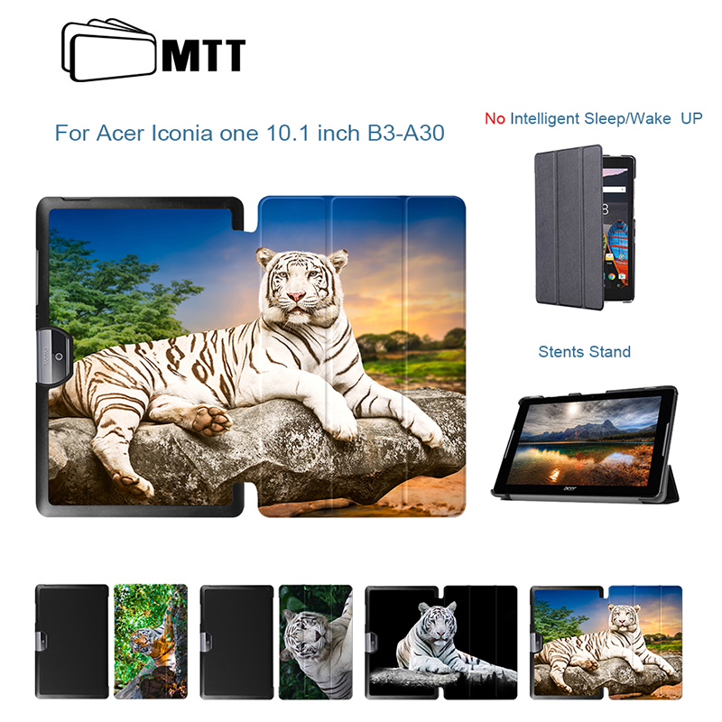 Tiger Print Flip Leather Stand Fundas Capa For Acer Iconia Tab 10 A3-A40 B3-A30 Case For Acer 10 A3-A40 10.1 inch Tablet Cover ultra slim flip cover for acer iconia one 10 b3 a30 a3 a40 funda cases protective stand cover shell skin gift screen protector