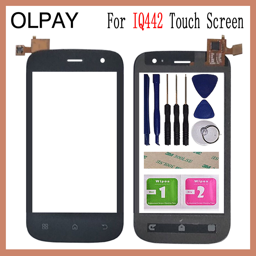 OLPAY 4.0 inch For Fly IQ442 IQ 442 Touch Screen Glass Digitizer Panel Touch Screen Front Glass Lens Sensor ToolsOLPAY 4.0 inch For Fly IQ442 IQ 442 Touch Screen Glass Digitizer Panel Touch Screen Front Glass Lens Sensor Tools