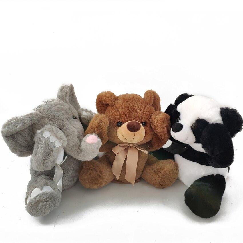 Peek A Boo Elephant Stuffed Animals Plush Doll Music Elephant Educational Anti stress Plush Electric Toy