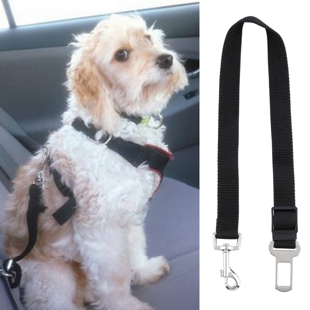 New Adjustable Dog Cat Pet Car Safety Seat Belt Black Pet Belt for Dog Black Safety Seat Belt Dog Belt