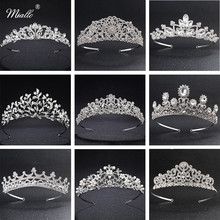 hot deal buy miallo european classic princess tiaras and crowns austrian crystal headpieces wedding hair jewelry for bride hairstyle