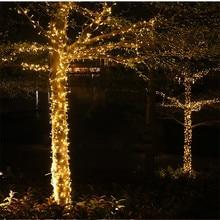 Guirnalda de luces LED de Navidad decoración para árboles de calle, jardín, fiesta, boda, exterior, enchufe europeo y estadounidense, 10M, 100LEDs