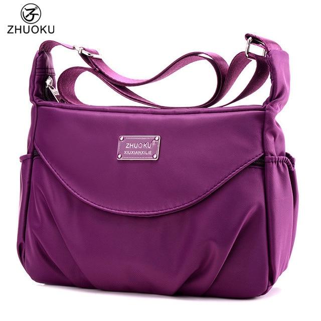 ZHUOKU Women Casual Shoulder Bag Waterproof Nylon Bag 2017 NEW hot sale  Multilayer Bags brand monkey Bolsos blosa feminina WH159 78f9b390e6