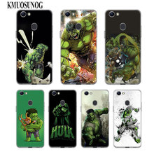 Transparent Soft Silicone Phone Case Villain Hulk for OPPO F5 F7 F9 A5 A7 R9S R15 R17 Cover