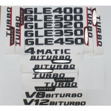 Matt Black  GLE 63 Car Trunk Rear Letters Words Number Badge Emblem Decal Sticker for Mercedes Benz Class GLE63 AMG