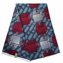 цена YBGHA-109 pink&ornge African skirt wrapper african ankara fabric holland wax prints for kitenge dress 6 yards whole