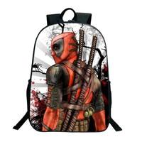 2017 Sıcak Satış Deadpool Sırt Çantaları Genç 3D Için Comics Superheros Omuz Okul Çantası Baskı Sırt Çantası Seyahat Sırt Çantası Mochila