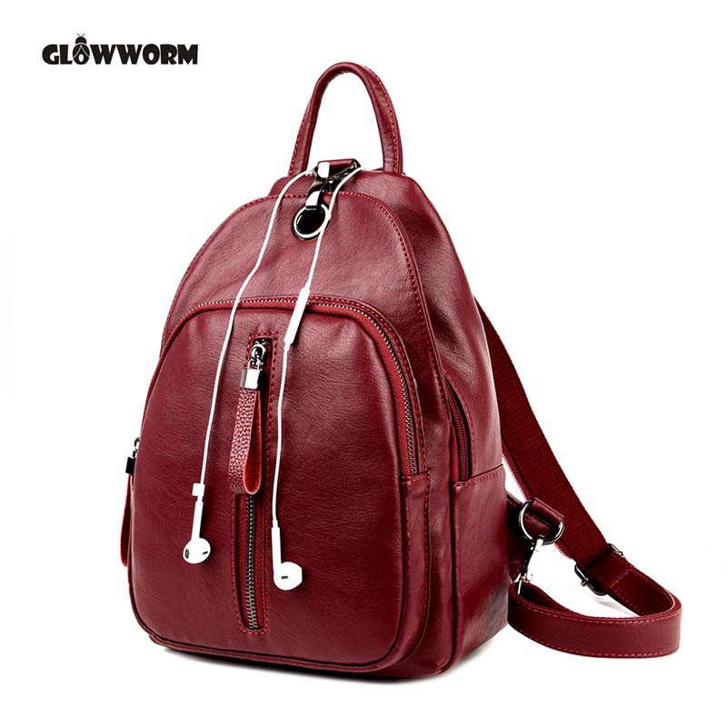 Casual Backpack Women Genuine Leather Backpack For Girls School Bags Mochila High Quality Leather Travel Shoulder Bag Female wmnuo women backpack cow leather for girls school bags fashion shoulder bag mochila designer travel bag casual computer backpack