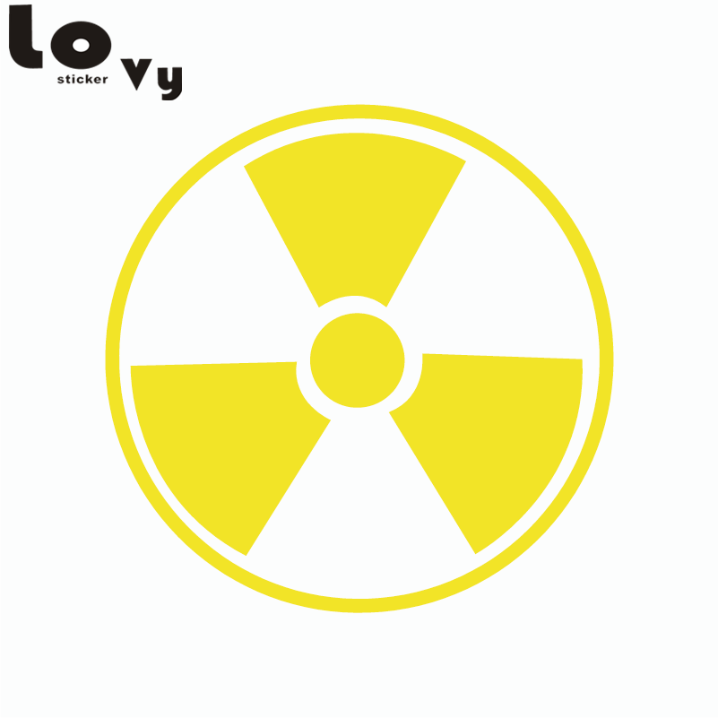 Yellow radiation-proof vinyl car sticker personality away from danger