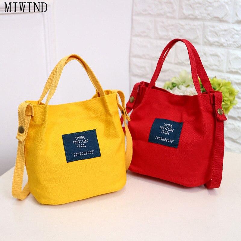 Miwind леди холст сумки Мини один сумка Crossbody сумка женщины развязность мешок женские сумки Buck TRH535 ...