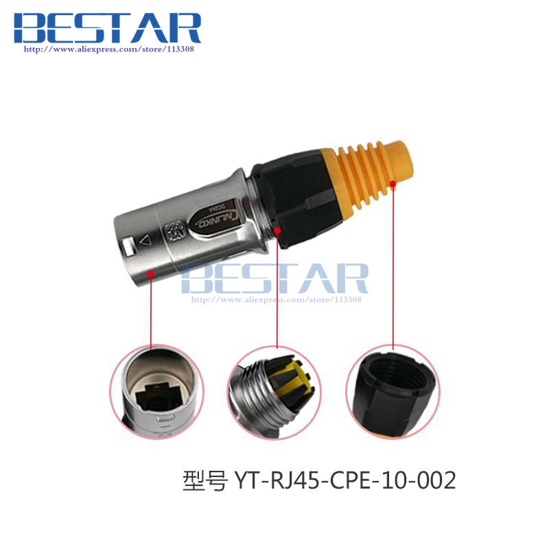 RJ45 waterproof connector plugs and sockets Ethernet connector IP65 panel mount RJ45 connector RJ45 male female