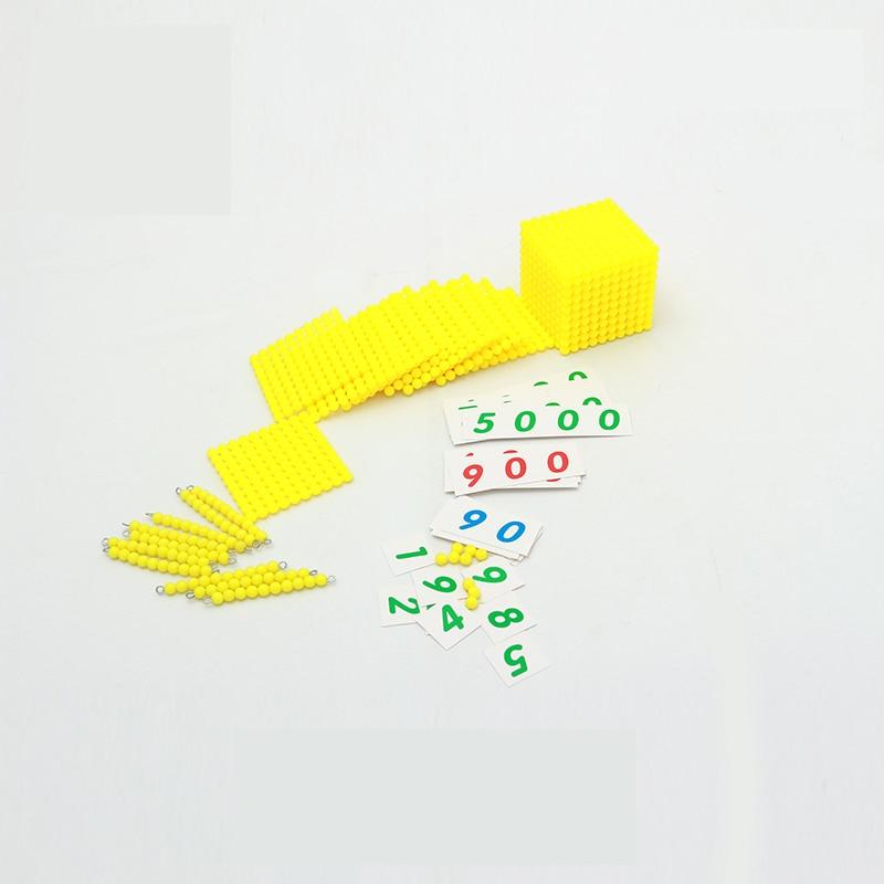 Montessori Enfants Jouet Bébé base décimale Banque Jeu de Jeu - Concepteurs et jouets de construction - Photo 4