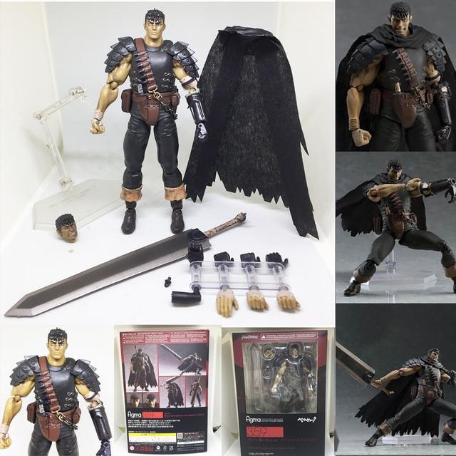 Berserk figma 359 espadachim preto figuras de ação brinquedos