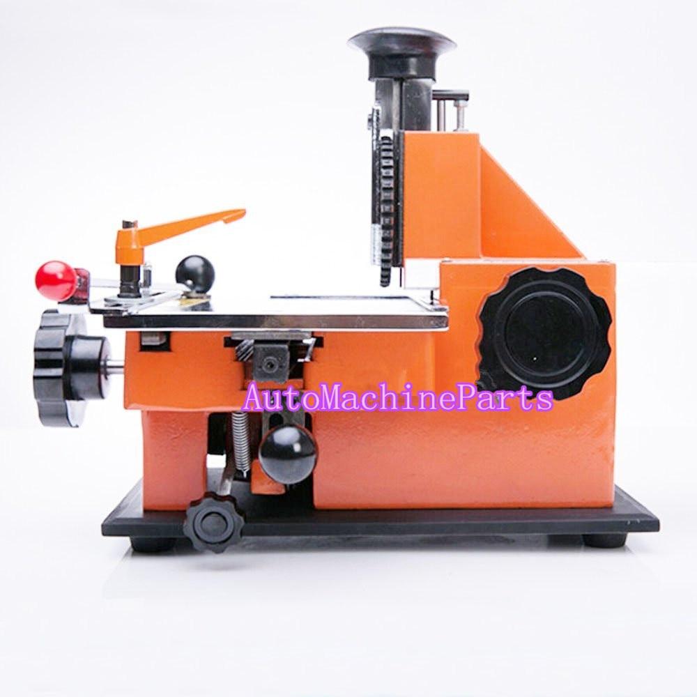 Semi-automatique Embosseuse Feuille Métal Estampage Imprimante 2mm 2.5mm 3mm 4mm 5mm Étiquette