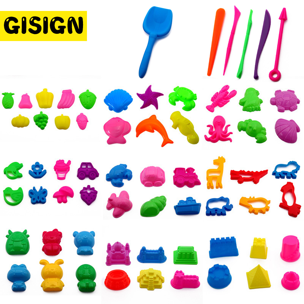 Plasticine Magic Sand Toys DIY Indoor Arena Play Sand Castle Mold Building Dynamic Sand Clay Slime Model Educational Toys