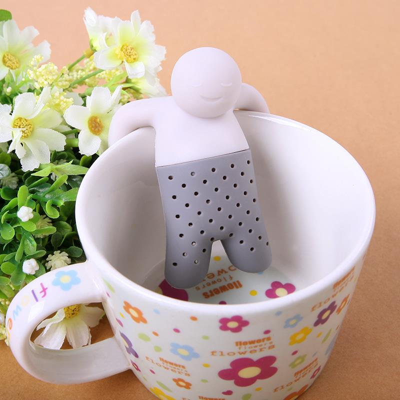 New cute Tea Infuser/Tea Strainer/Coffee & Tea Sets/silicone tea  Herbal Spice Filter Diffuser free shipping ZH146