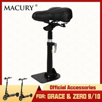 Macury Saddle for Grace 9 10 Zero 9 10 T9 T10 Electric Scooter Seat Kit Official Accessories Parts Height Adjustable Chair
