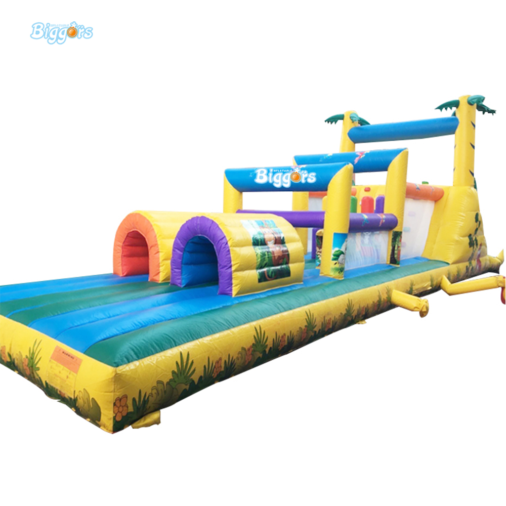 All In 1 Combo Sports Games Inflatable Bouncing Castle House Obstacle Course For Kids Fun interesting haunted house props for children playing inflatable games