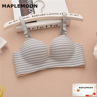 8801 Gray Small Flat Chest Bra Deep V Female Underwear Girl Thick Mold Cup Bras One