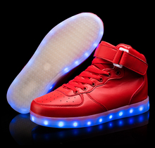 Children Hook Loop Fashion Luminous Shoes