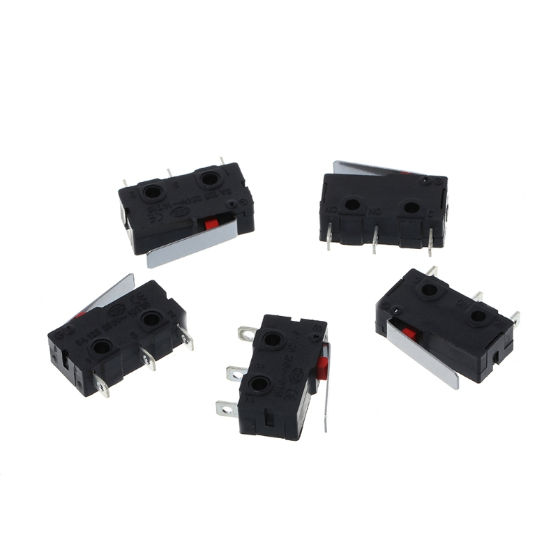 5 Pcs Travel Limit Switch 3 Pin N/O N/C 5A 250VAC KW11-3Z Micro Switch L15 10pcs limit switches 3 pin n o n c 5a 125v 250vac micro switch roller lever arm pcb terminals kw12 3