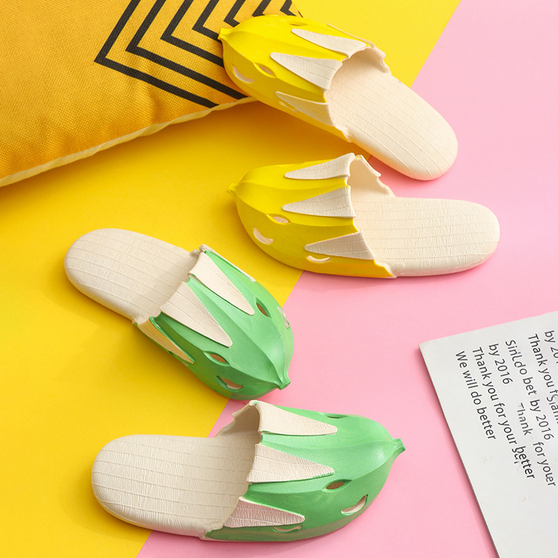 Summer Kids Beach Sandals Boys Girls Toddler Slippers Creative Cartoon 3D Banana Slippers Children Shoes Soft Bottom Non slip in Slippers from Mother Kids
