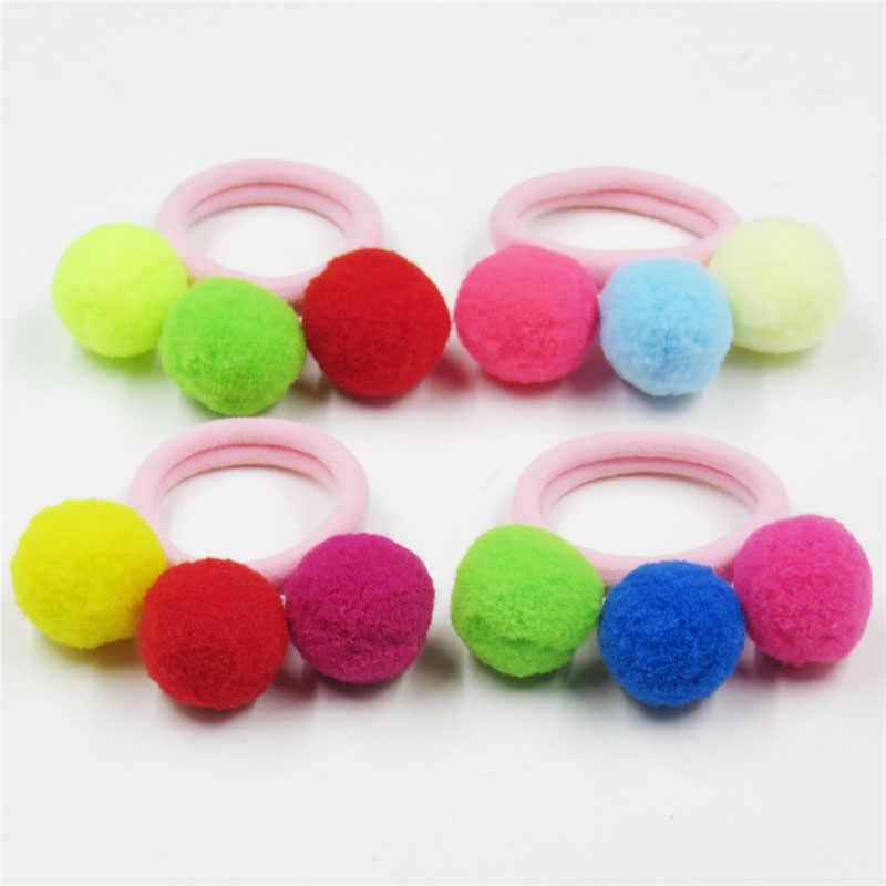 Шт. 1 шт. милые 3 короткие волосы Мячи эластичные резинки для волос Игрушки для девочек ручной работы бант повязка на голову резинки Детские аксессуары для волос для женщин