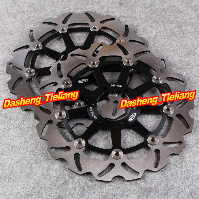 Front Brake Disc Rotors For YAMAHA FZ750 FZS FZR 600 XJR TZ 250 TDM TRX 850 Black Color, Motorcycle Spare Parts Accessories sintered copper motorcycle parts fa252 front brake pads for yamaha fzs 600 fazer 98 03