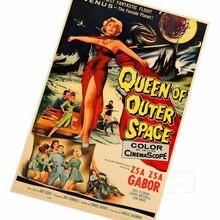 La Reina del espacio exterior Sci-Fi clásico película de Horror película póster vintage retro lienzo de pintura de DIY de papel de pared hogar Decoración regalo