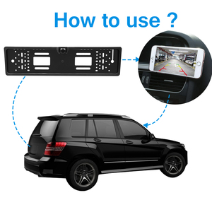Image 4 - Car DVR Wireless Reverse Rear View Backup Parking Camera Vehicle Auto Security Camera Night Vision HD Camera EU License Plate
