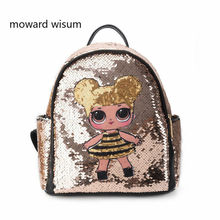 Glitter Women Sequins Backpack Teenage Girls Travel Large Capacity Backpacks Bags Bling Rucksack Children School Bags Bagpacks(China)