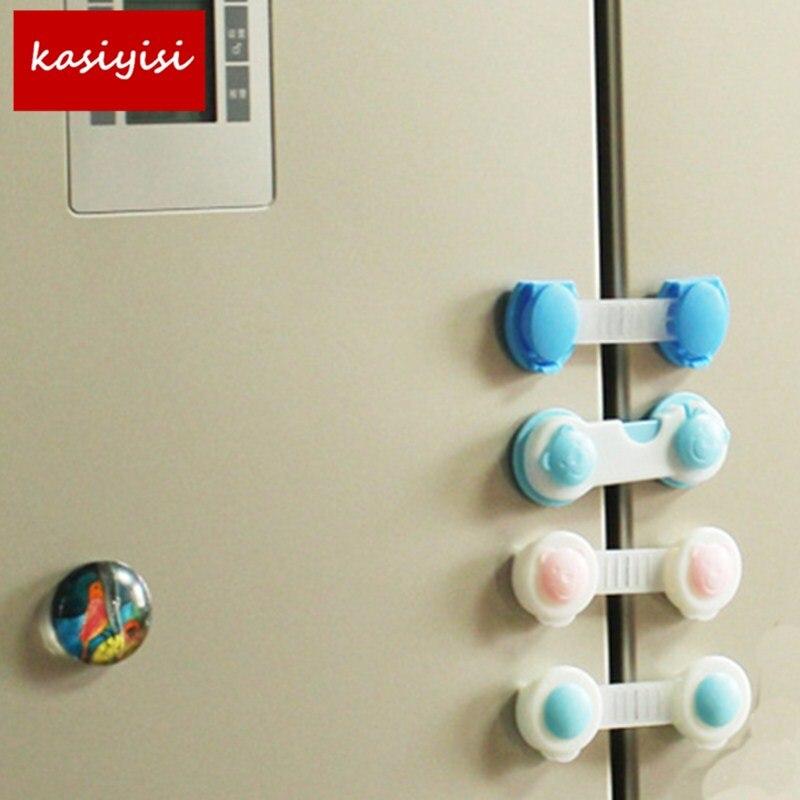 5Pcs/lot Securiy Multi Function Drawer Lock Safety Door Lock Baby Plastic Cabinet Lock Toilet Lock