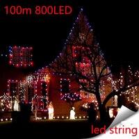 Oferta 100M impermeable al aire libre Hotel en casa guirnaldas de luces LED 800 Uds lámparas Bola