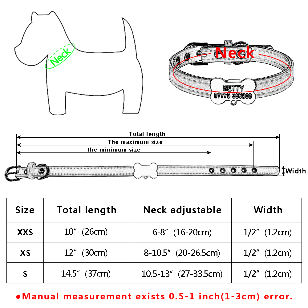 Osebne pasje ovratnice po meri Chihuahua psiček Mačka ovratnica ID - Izdelki za hišne ljubljenčke - Fotografija 6