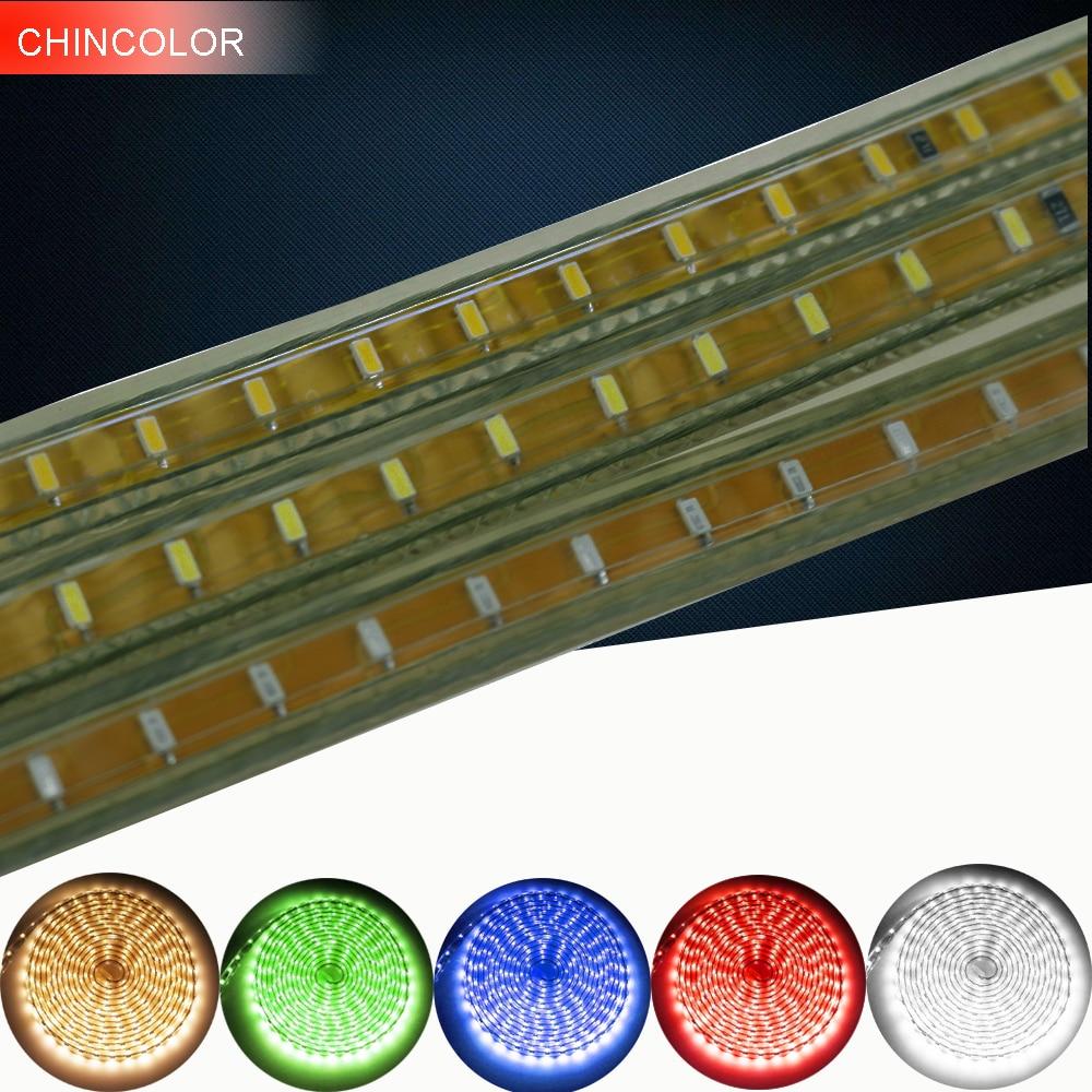 3014 SMD rəhbərlikli şerit çevik işıq AC220V 1M / 2M / 3M / 4M - LED işıqlandırma - Fotoqrafiya 1