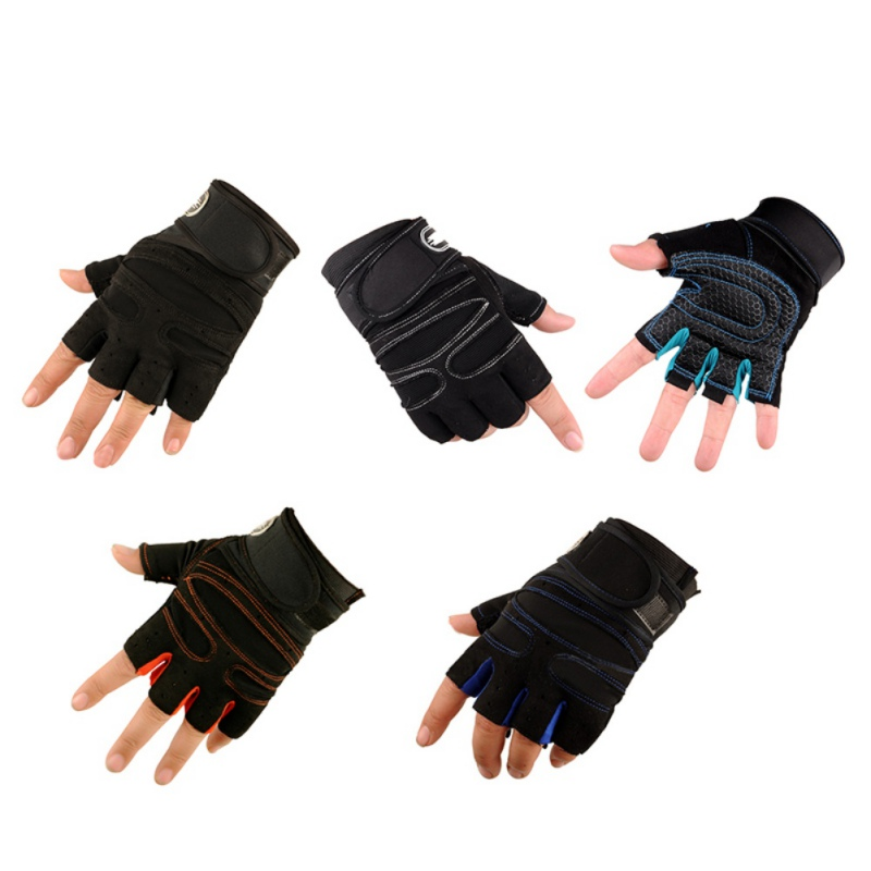 Cycling Gloves Outdoor Sports Half finger Anti-slip Breathable gloves Weight Lifting Equipment GYM bodybuilding fitness gloves
