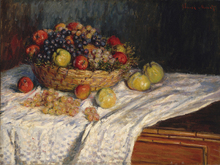 где купить Monet Painting Fruit Basket With Apples And Grapes Art Painting Home Decorative Canvas Painting  For Home wall Decoration Custom по лучшей цене