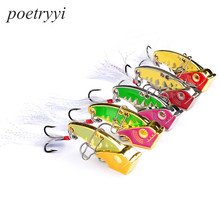 POETRYYI  5 colors 5cm 26g/20g/15g hooks 6# Feather hook 4 # new fishing lure metal bait lures vib 30
