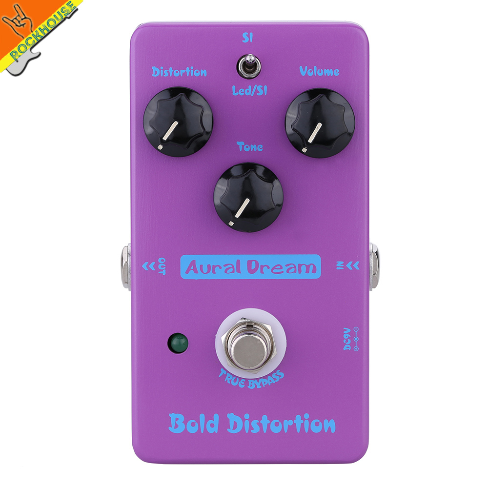 ФОТО New Guitarra Distortion guitar effect pedal distortion High-Gain powerful dynamic output American distortion free shipping
