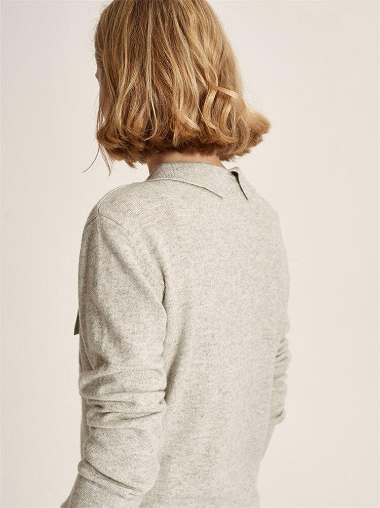 Wolle Frauen Farbe M Pullover 100Handarbeit Einzelne around Hellgrau Strickjacke Hellgrau Strick Wrap Saum Unregelmigen Umlegekragen R54S3qcALj