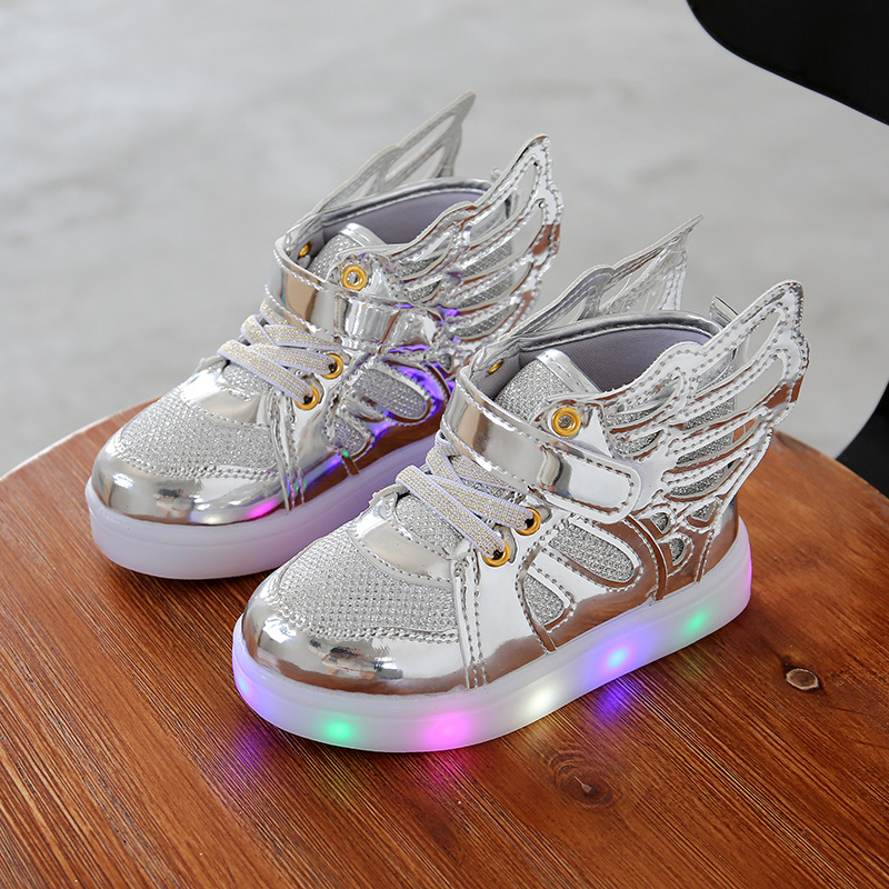 Free Gift Girls Luminous LED Light Shoes Angel Wings Baby Boys Casual Led  Shoes Children Sneakers size 21 30-in Sneakers from Mother   Kids 189483cf1fef