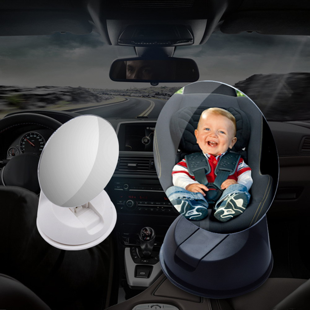 360 Mini Acrylic Suction Installing Car Baby View In-Sight Rearview Mirror Baby Rear Ward Facing Car Interior Wide Adjustable