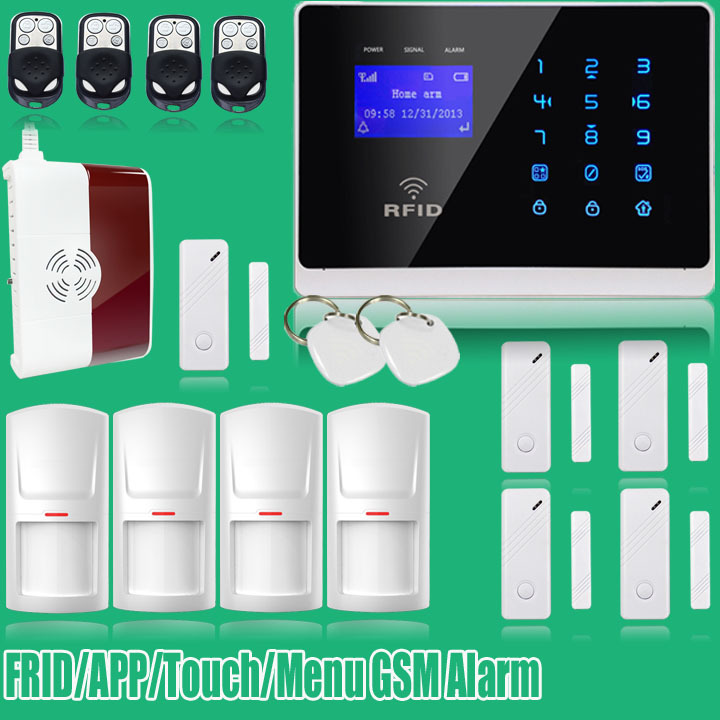 English Russian Italisn Voice Dual Net Touch keypad TFT color Display GSM Dual Net Security System Alarm GAS Dectector