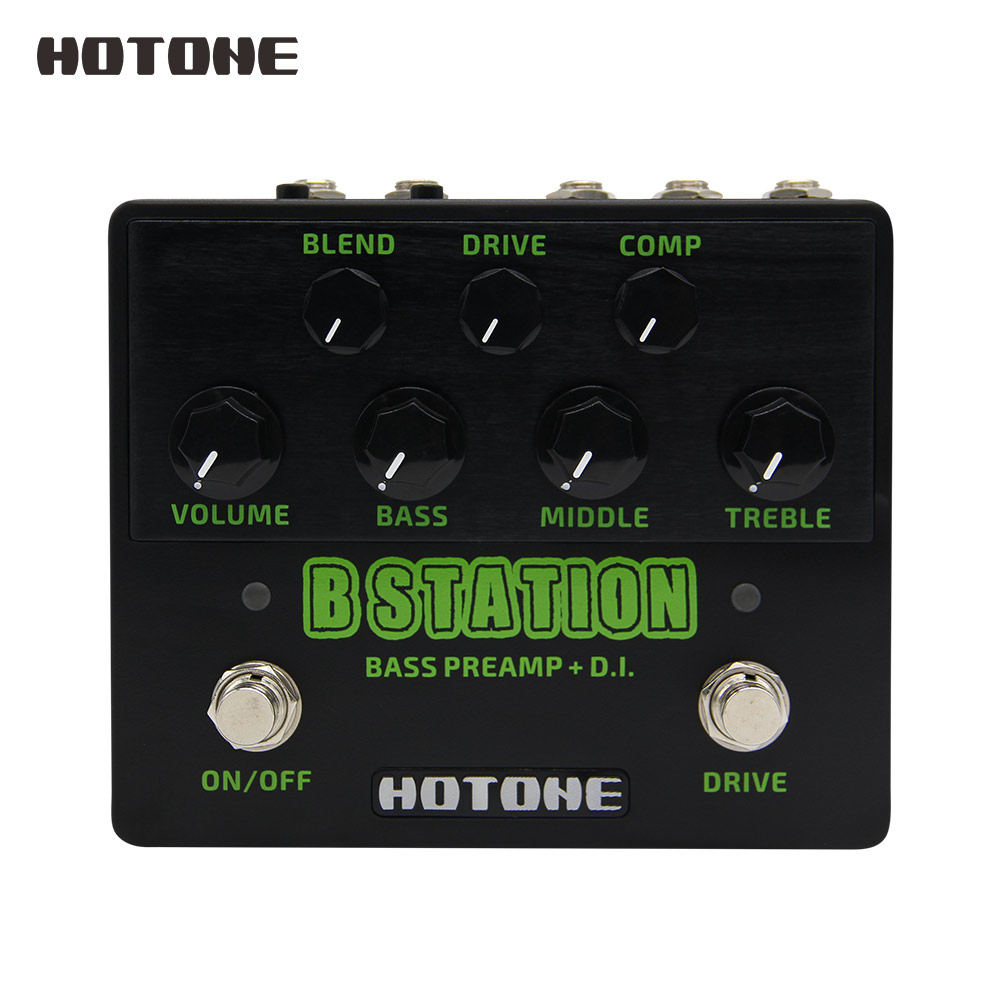 Hotone B Station Bass Preamp and D I Wide Tonal Range Guitar Effects Pedal 9V DC
