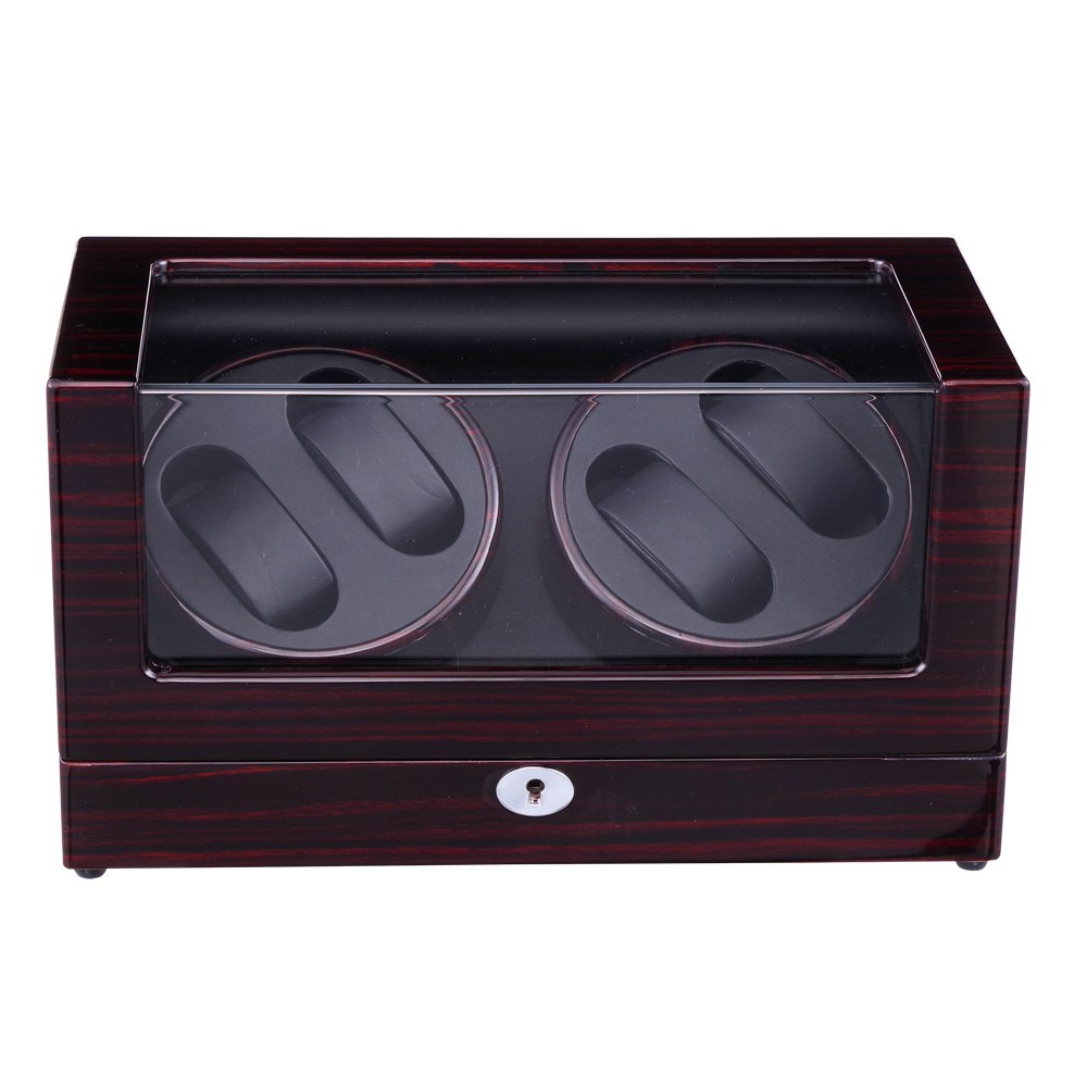 Watch Winder ,LT Wooden Automatic Rotation 4+0 Watch Winder Storage Case Display Box The new style watch winder lt wooden automatic rotation 4 0 watch winder storage case display box the new style all carbon