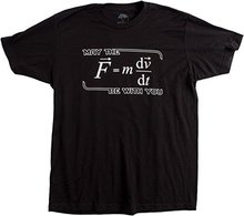 May the (F=mdv/dt) Be with You | Funny Physics Science Unisex T-shirt