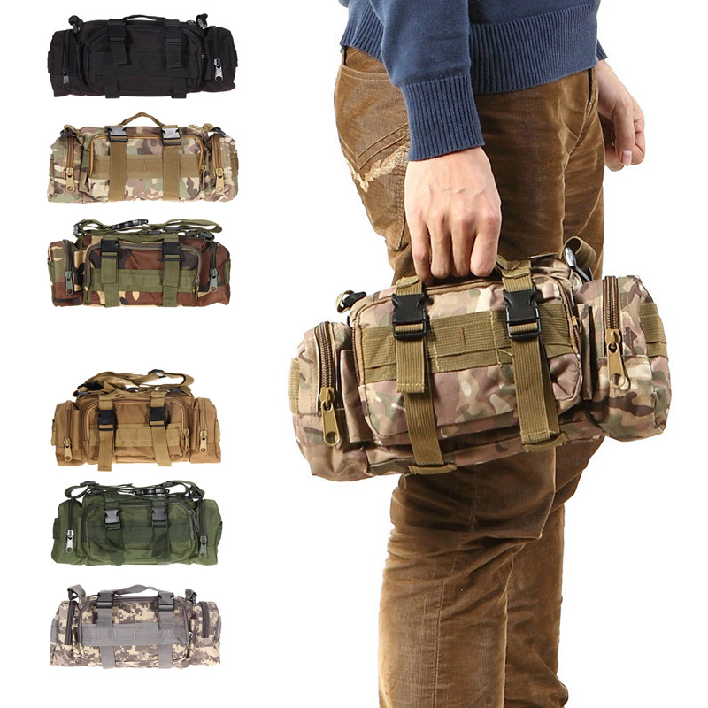 3L 600D Waterproof Waist Bag Oxford Climbing Bags Outdoor Military Tactical Camping Hiking Pouch Bag mochila military bolsa airsoft tactical bag 600d nylon edc bag military molle small utility pouch waterproof magazine outdoor hunting bags waist bag