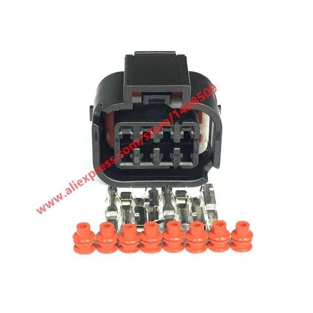 20 Sets 8 Pin Headlight Socket Waterproof Plug For Automotive Wiring