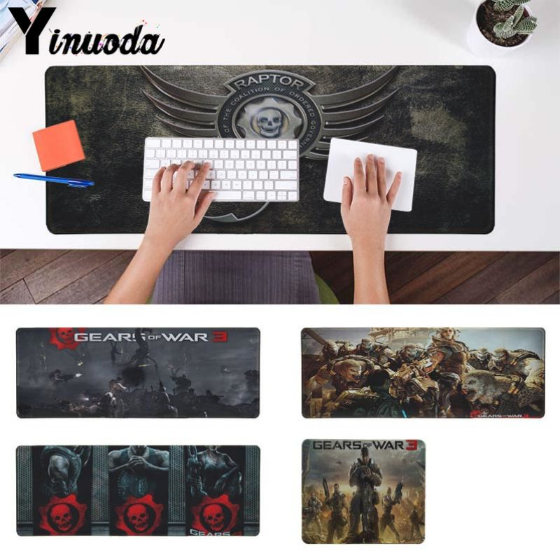 Yinuoda Cool New Gears Of War Customized laptop Gaming mouse pad Size for 18x22cm 20x25cm 25x29cm 30x90cm 40x90cm