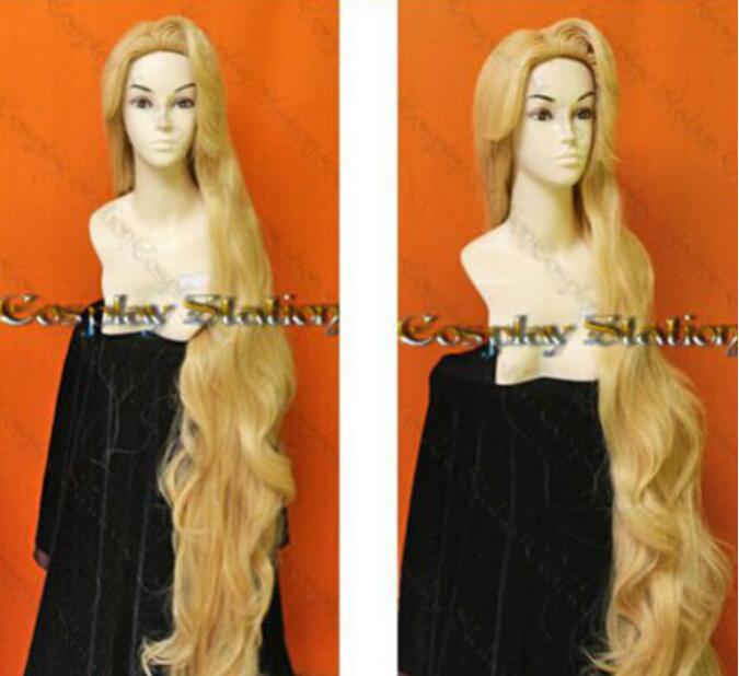 Jewelry Wig Rapunzel Custom Styled Wig 150cm Resistance High-temperature Mixed Gold Wig Hair Free Shipping(China)